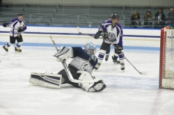 Latham made 40 saves in the losing effort after making 39 saves against Falmouth previous night
